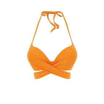 Haut de maillot de bain super push orange fusioniz orange.