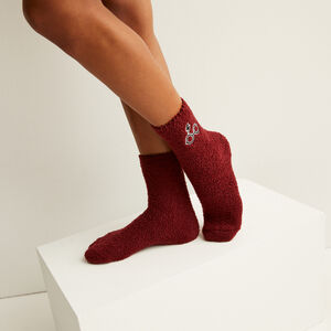 chaussettes à motifs harry potter - bordeaux