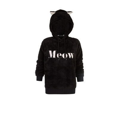 Pullmeowiz black sweatshirt;${refinementColor}