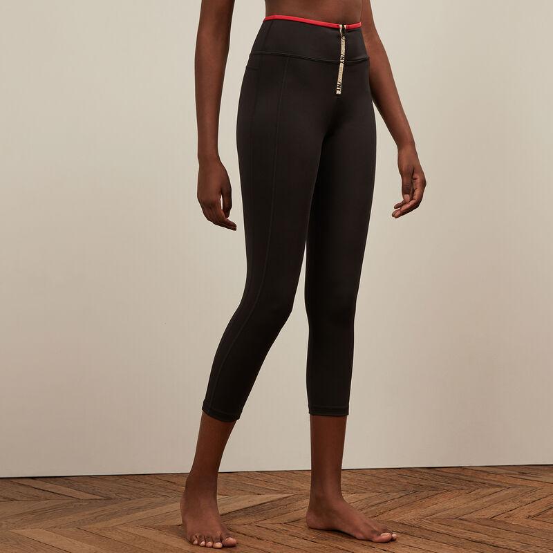 Legging de sport zippé - noir;