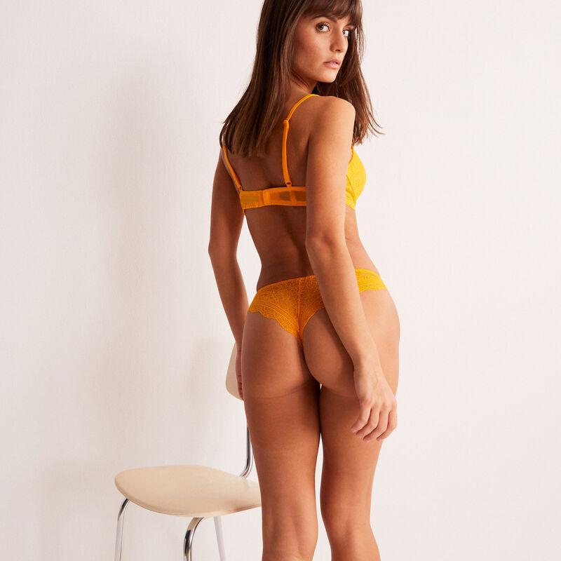soutien-gorge push-up en dentelle - mangue;