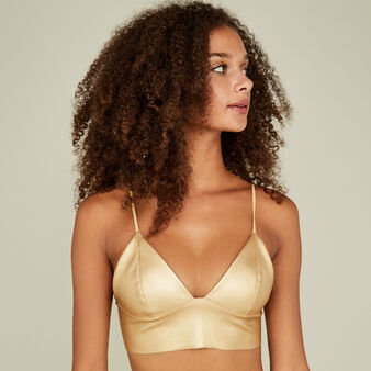 Soutien-gorge triangle jaune donatelliz yellow.