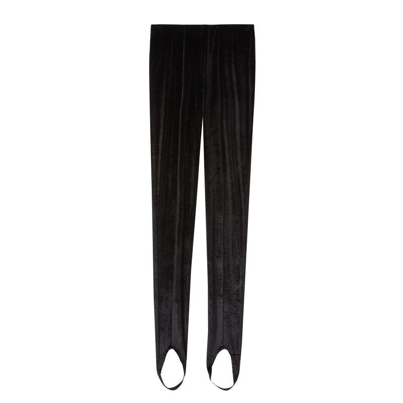 legging fuseau en velours shiny - noir;