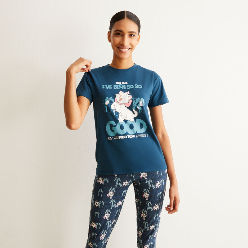 set de pyjama à manches courtes Aristochats - bleu;