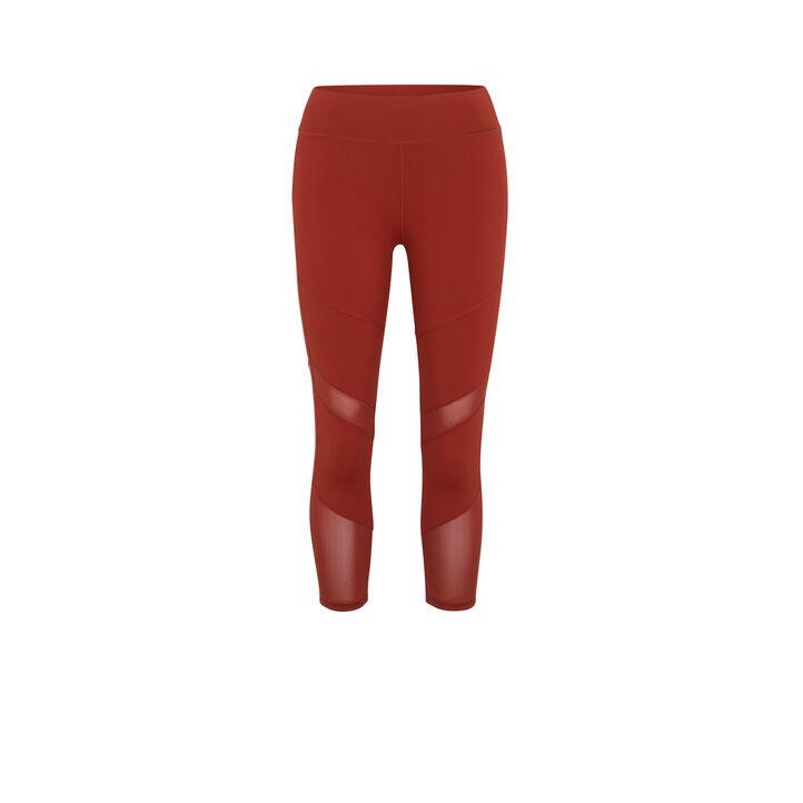 Legging couleur brique macrasportiz red.