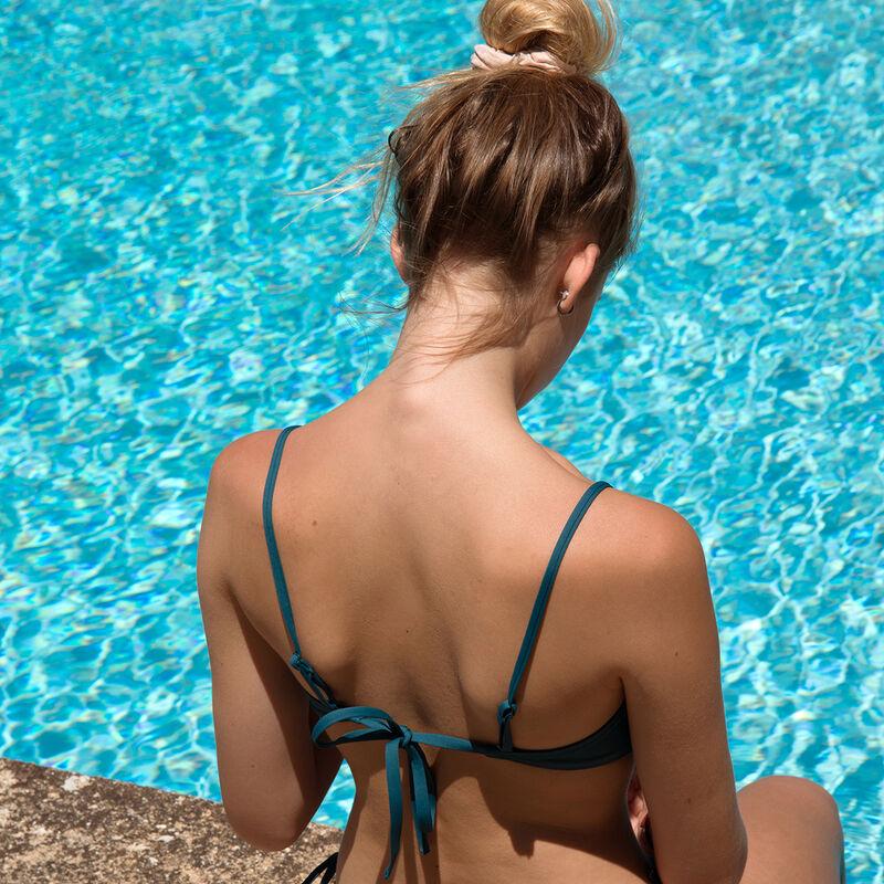 Haut de maillot de bain super push-up - bleu canard;