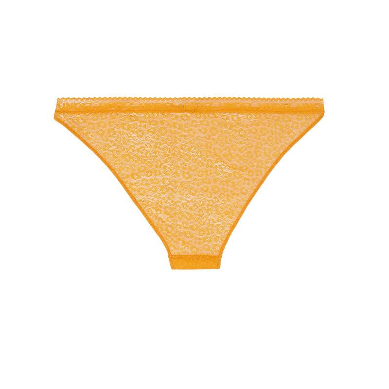 culotte en dentelle à motifs - jaune;