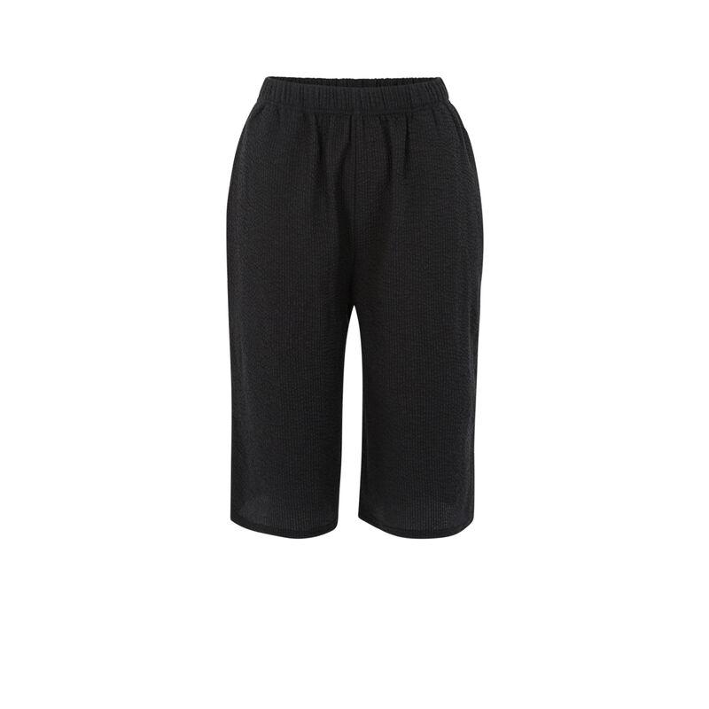 Pantalon matière texturée - noir;