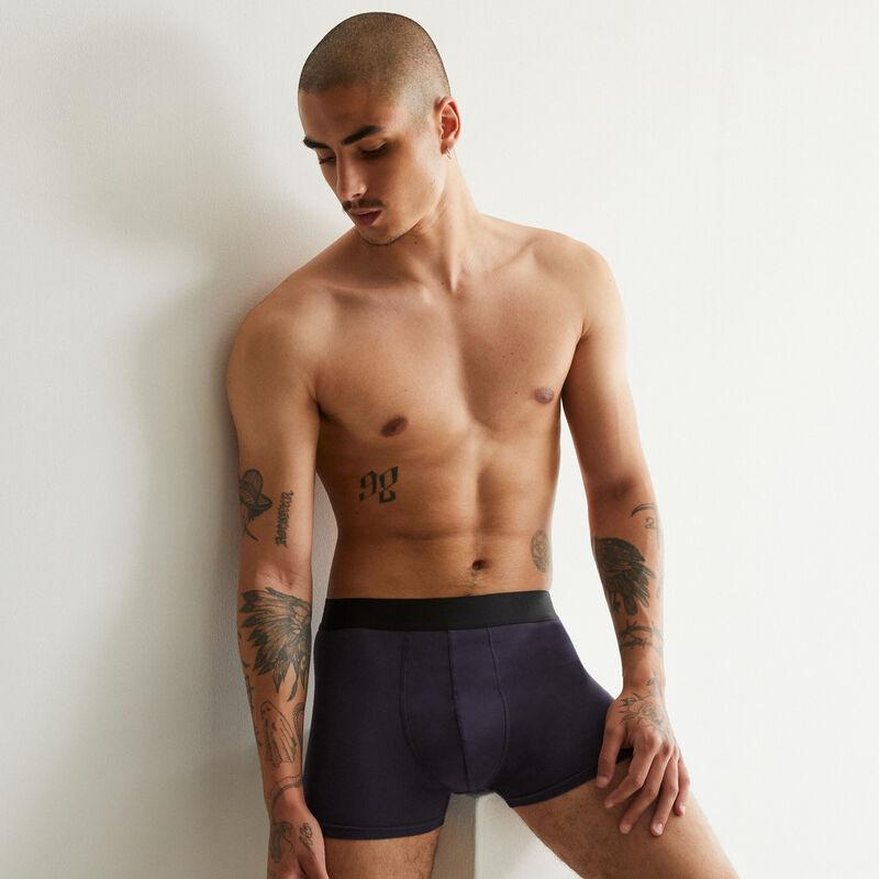 """boxer en coton """"l'homme idéal"""" - bleu marine;"""