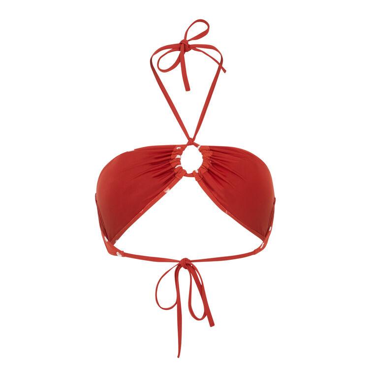 Haut de maillot de bain rouge brique sauvagiz;