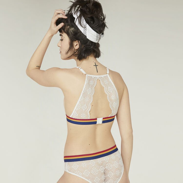 Soutien-gorge triangle blanc new dystaniz white.