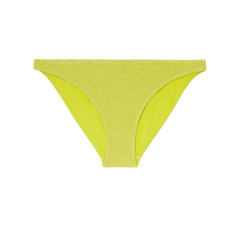 bas de maillot culotte à paillettes - jaune;
