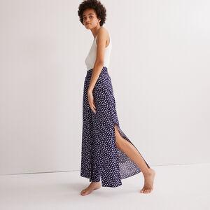 pantalon à motifs paquerettes - bleu