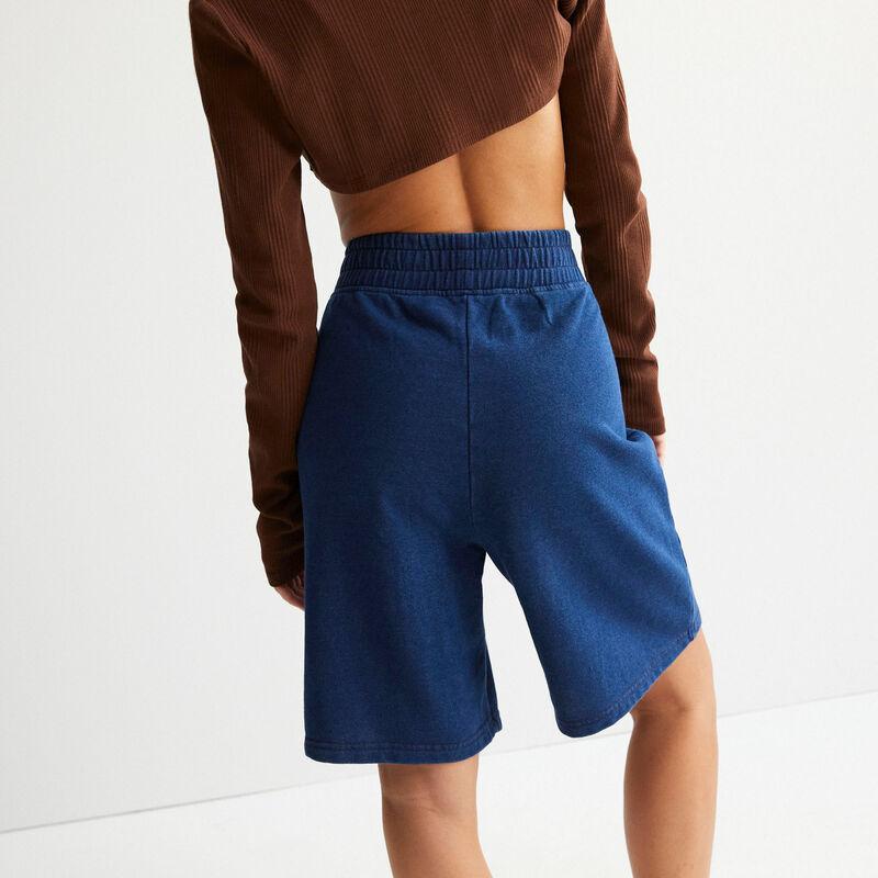 short hanches ajourées - bleu;