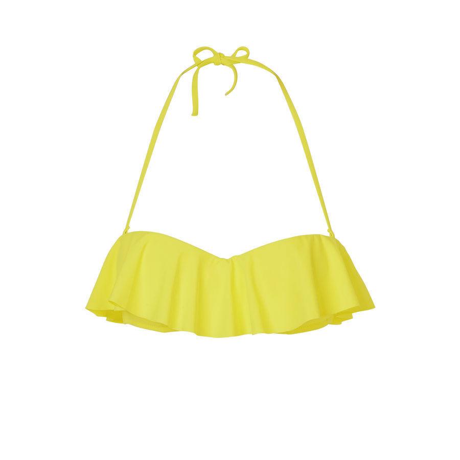 Haut de maillot de bain jaune citroniz;${refinementColor}