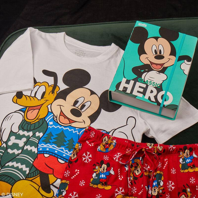 set pyjama manches courtes Mickey et Pluto - blanc;