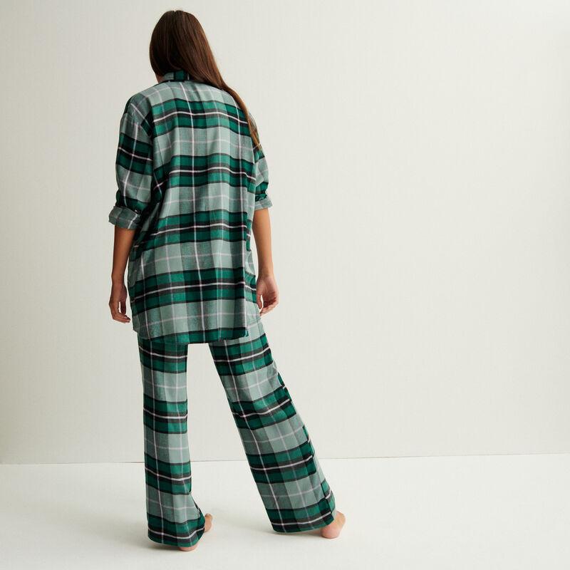 chemise oversize à carreaux - sapin;
