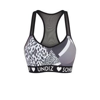 Patchiz black sports bra black.