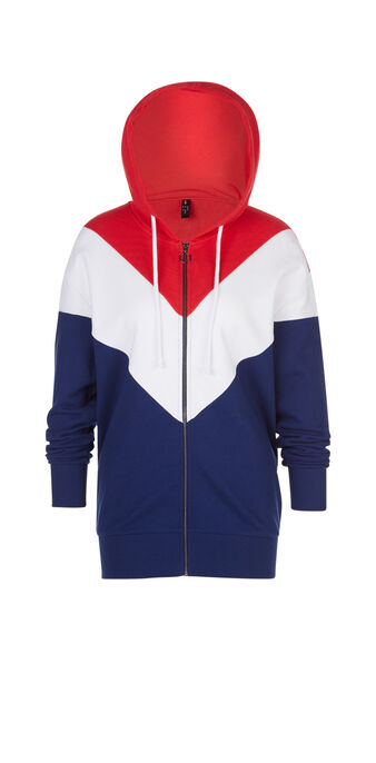 Sweat bleu blanc rouge changementiz blue.