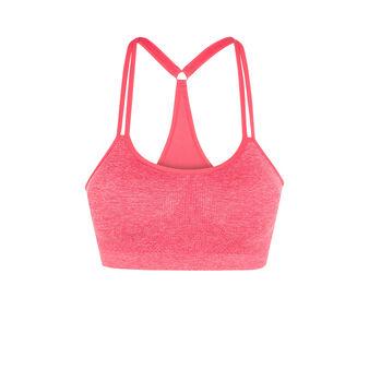 New swimmiz pink sports bra red.