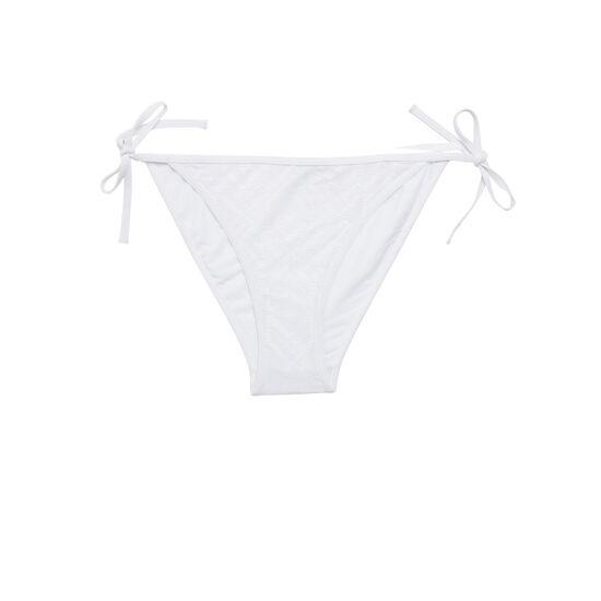 Bas de maillot de bain blanc cassé crochiz;