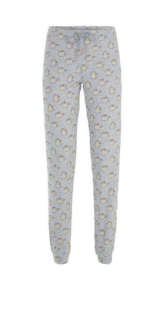 Pantalon gris clair pusheecorniz grey.