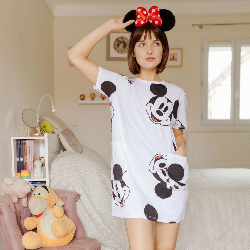 Tunique à poches Mickey - blanc;