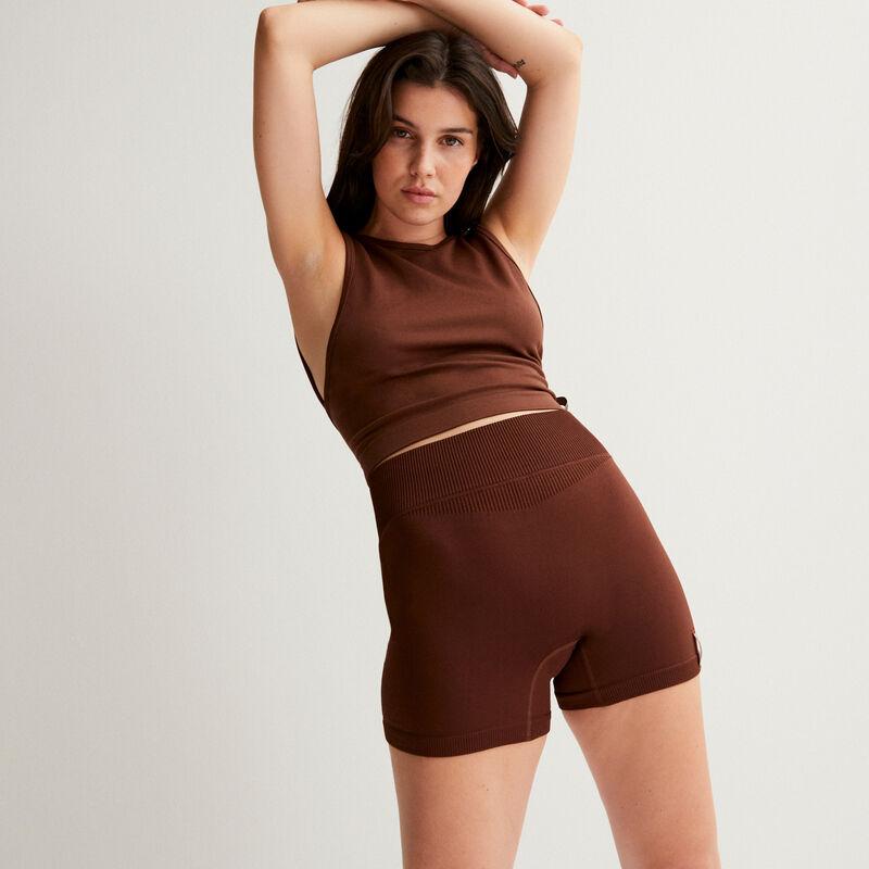 top stretch ouvert dans le dos - marron;