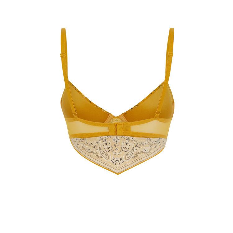 Soutien-gorge bustier ampli jaune moutarde bandaniz yellow.