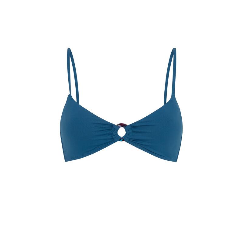 Haut de maillot de bain bralette uni - bleu canard;