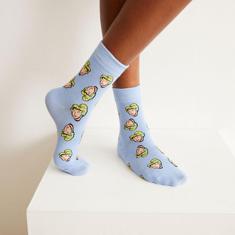 shorty et chaussettes Cendrillon - bleu;