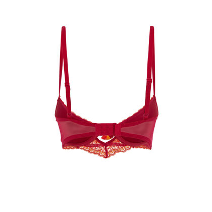 Soutien-gorge push rouge orangé colorlaciz red.