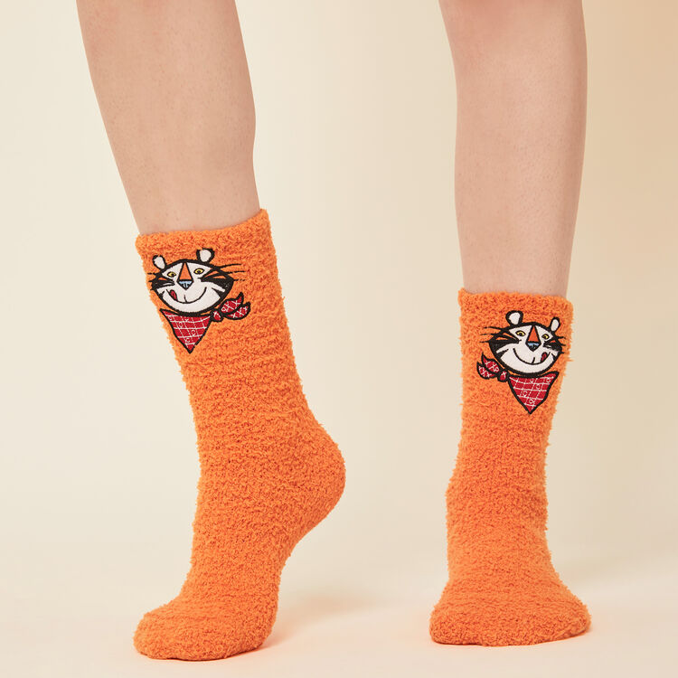 Chaussettes fausse fourrure licence Kellogg's;