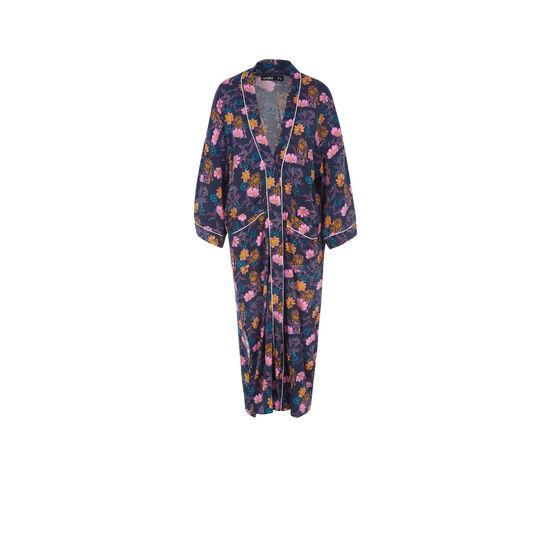Kimono bleu foncé floritriz;