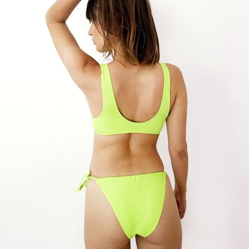 Bas de maillot de bain bikini à nouer - vert;