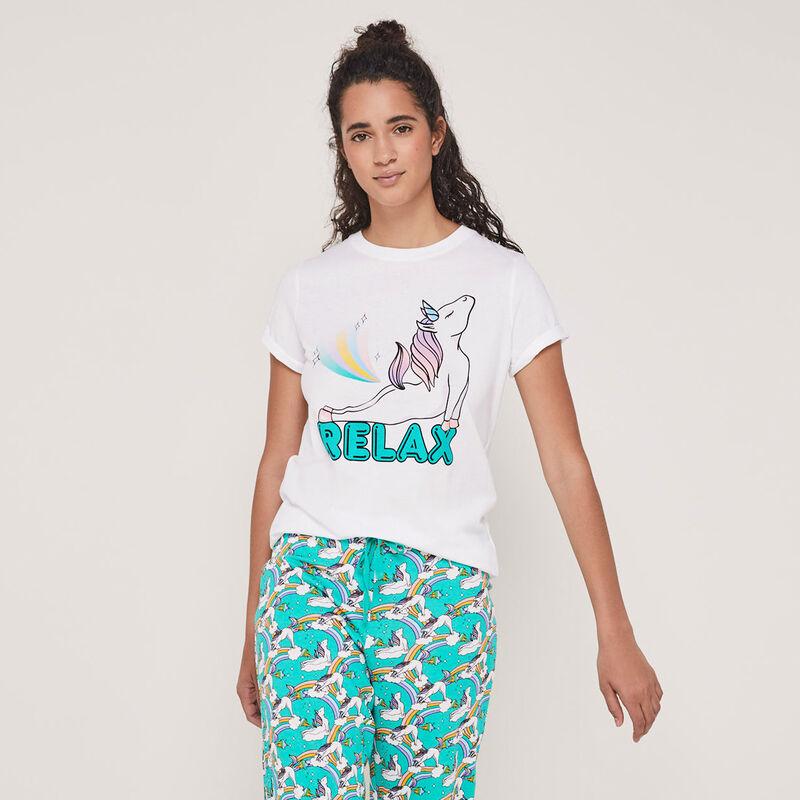 Set pyjama top + pantalon print licorne licornaxiz;