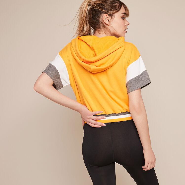 Sweatshirt sport à message basicsportiz  ocre.
