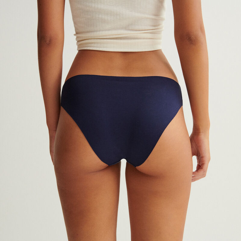 shorty en coton uni - bleu marine;