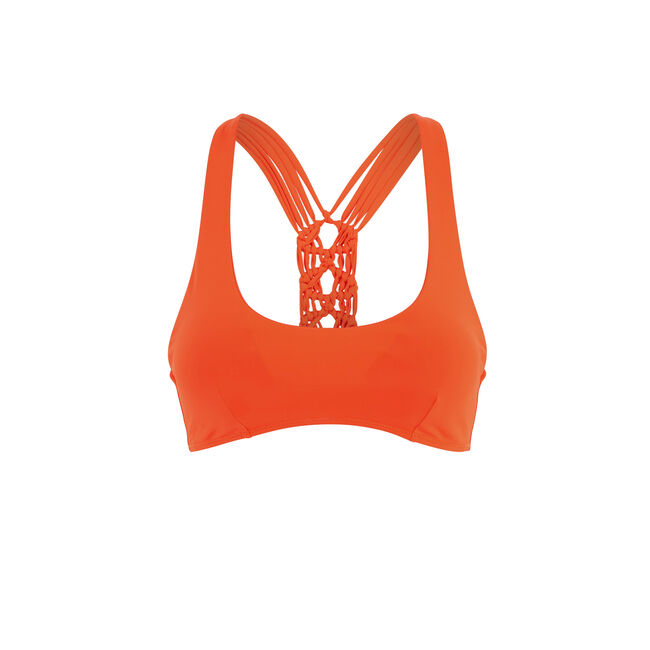 Haut de maillot de bain bralette orange africaniz;
