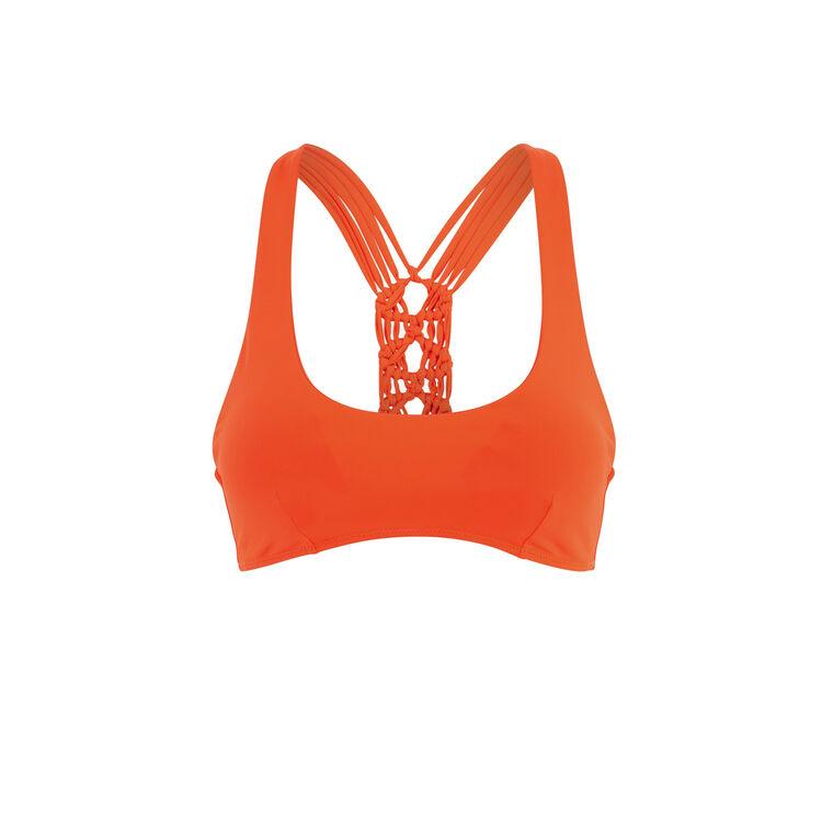 Haut de maillot de bain bralette orange africaniz orange.