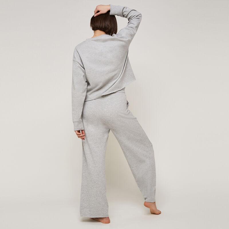 pantalon large uni longpapiz;
