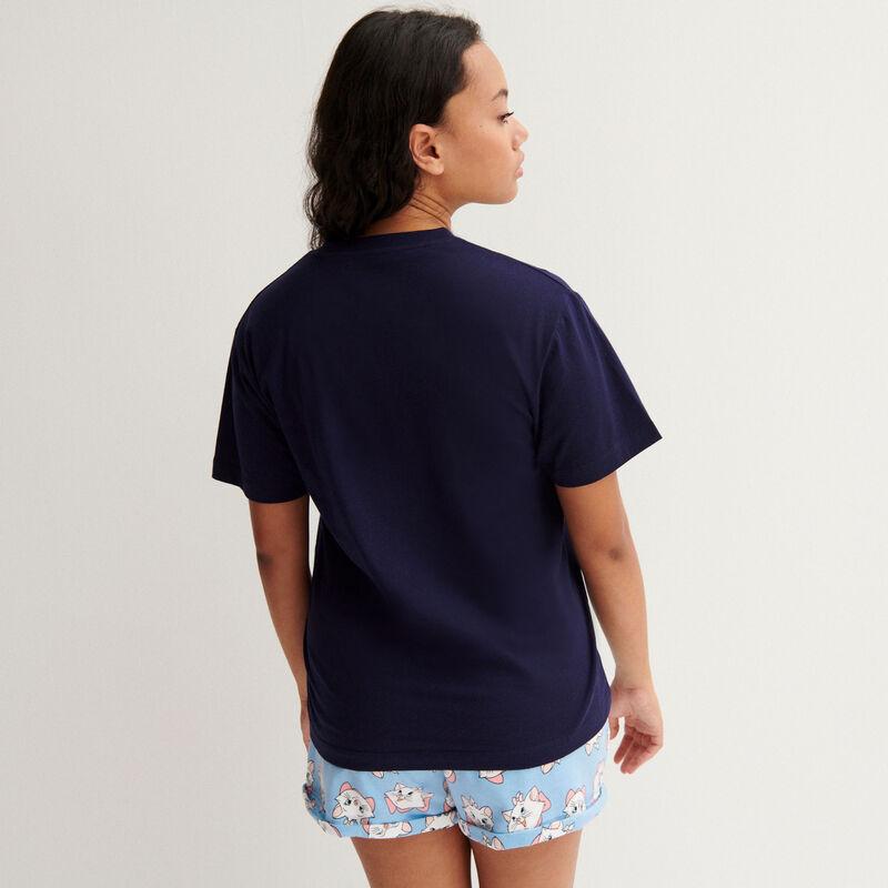 t-shirt marie les aristochats - marine;