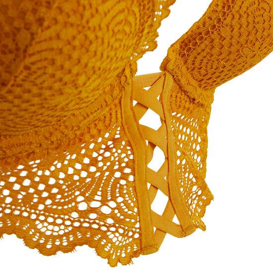 Soutien-gorge bustier push jaune gold mahaliz;