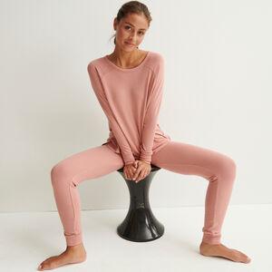 pantalon en maille - rose nude