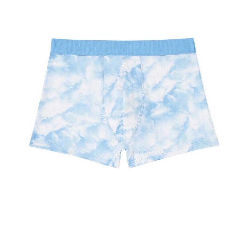 boxer imprimé nuage - blanc;