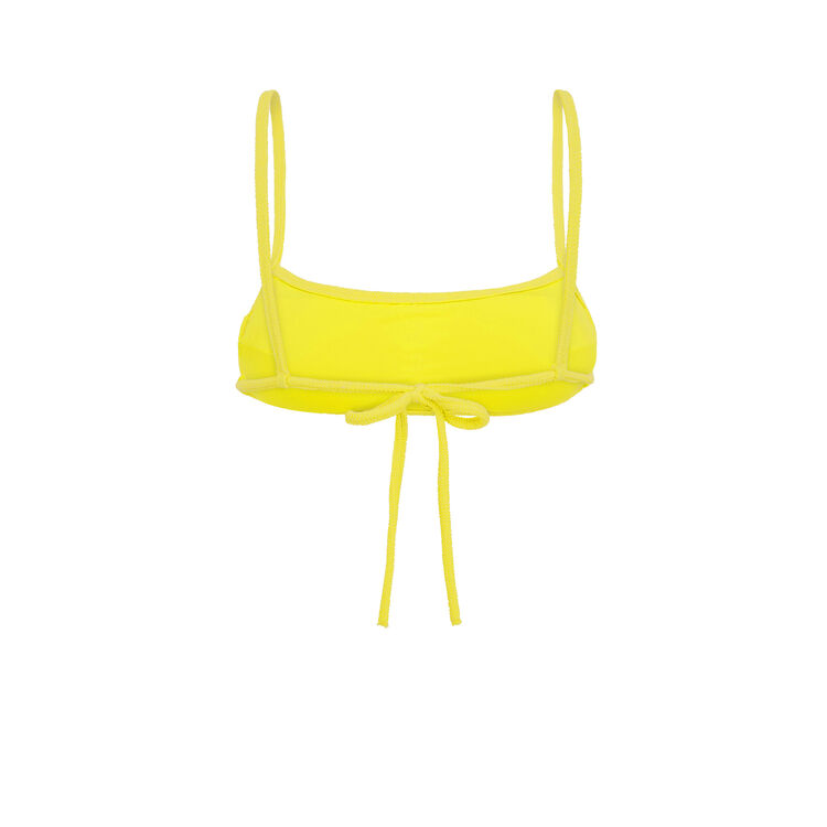 Haut de maillot de bain jaune sikiniz yellow.