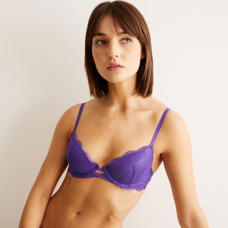 soutien-gorge push-up en dentelle  - violet ;