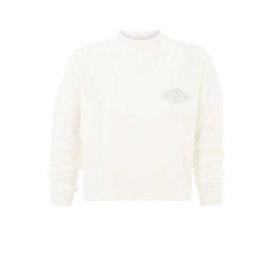 Sweat blanc cassé minipatchiz;