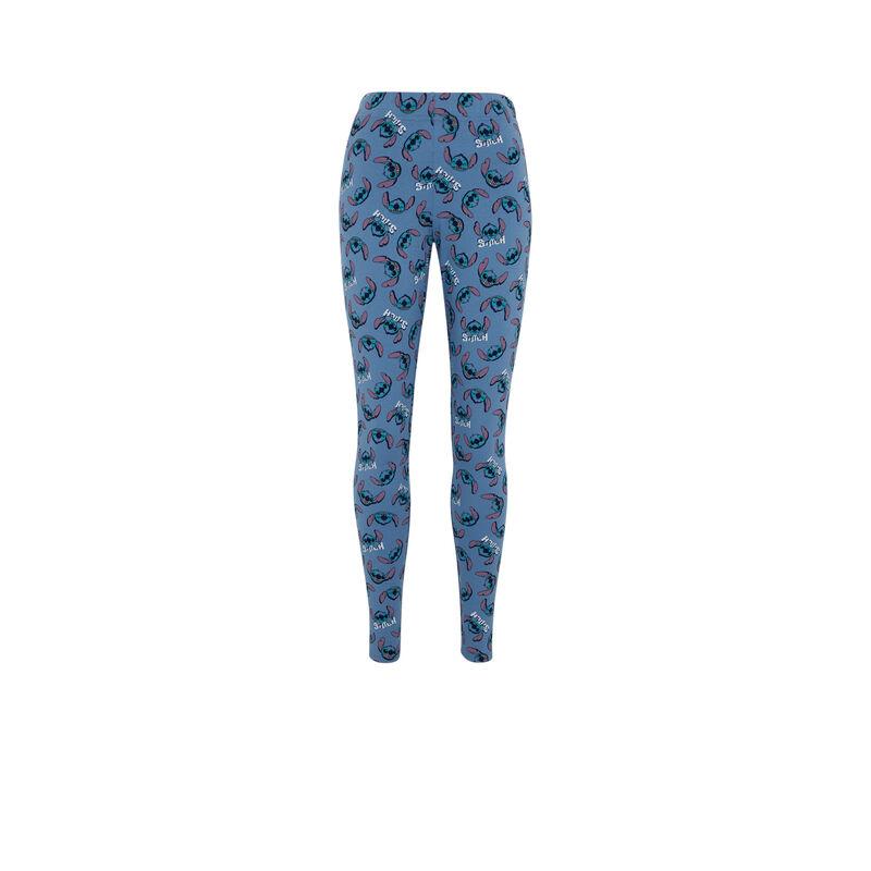 Legging imprimé Stitch - bleu ;