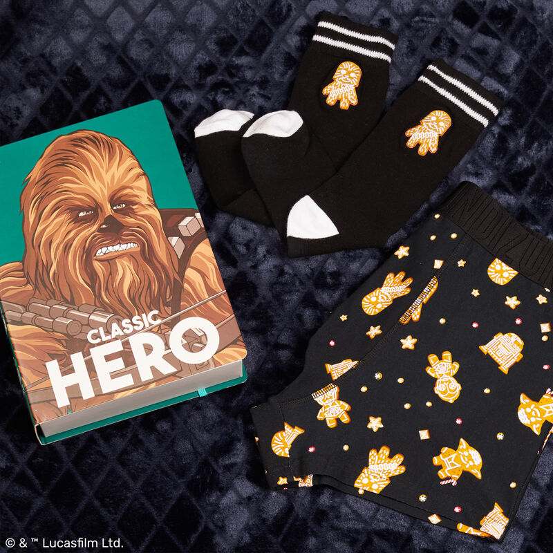 duo boxer et chaussettes à motif Chewbacca - noir;
